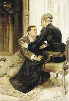 The Consolation by JC Leyendecker, oil on canvas.