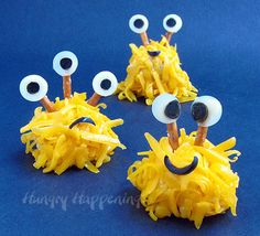 Mini Monster Cheese Balls and Cake Ball Monsters too. - Hungry Happenings