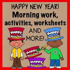 """Do you need a New Year activity for your class when they get back from the holiday break? Here are several activities for your students to complete during morning work or as a way to welcome them back to school and back to the New Year. Included in this product: --""""My Favorite..."""", (last year) worksheet --""""Find someone Who..."""", icebreaker"""