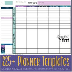 225+ COMPLETELY EDITABLE planner templates. DIGITAL PLANNER - An entire year's plans in ONE file. EASY to USE. Simplify your Life   #Teacherplanner #planbook #planning Traci Clausen - Dragonflies in First