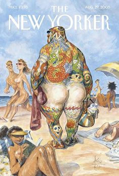 classic New Yorker cover by Peter de Seve.