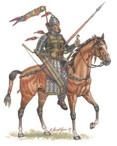 Kang-ju heavy armored horseman, century BC - AD, by Kaliolla Akhmetzhan