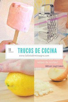 Desde evitar las lagrimas al cortar cebolla hasta cómo rellenar una manga pastelera en tiempo récord.