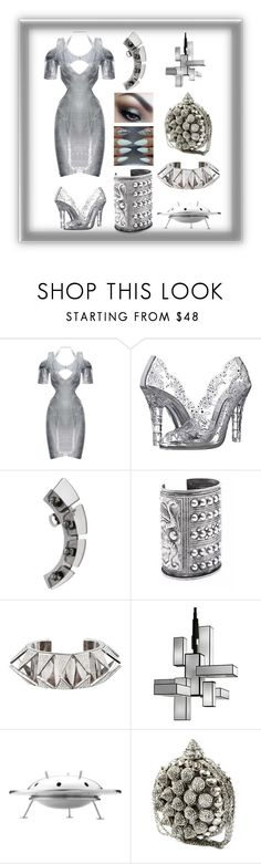 """""""A Glass Future"""" by mandurugo ❤ liked on Polyvore featuring Dolce&Gabbana, First People First, Child Of Wild, Eddie Borgo, Fine Art Lamps and Clara Kasavina"""