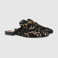 Gucci Princetown lace slipper Detail 2