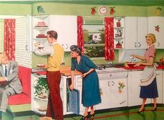 A visit from the in-laws ~ Youngstown Kitchens ad, 1953.