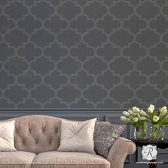 Large Wall Stencil Moroccan Style by royaldesignstencils on Etsy