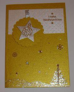 Weihnachtskarte -  gold