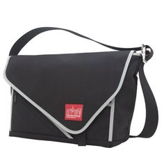 Manhattan Portage Flat Iron Messenger Bag Large BlackSilver * For more information, visit image link. Amazon Affiliate Program's Ads.