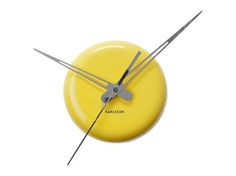 Karlsson Yellow Ceramic Dot Contemporary Wall Clock for sale online Yellow Wall Clocks, Tick Tock Clock, Jewellery Boxes, Solid Wood Furniture, Ticks, Mid Century Design, Dots, Ebay, Contemporary