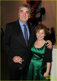 Jim Carter and Imelda Staunton ~ yes folks....Carson and Professor Umbridge are married in real life. WHATTTTT
