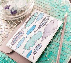 Feather Coloring Card | Cricut