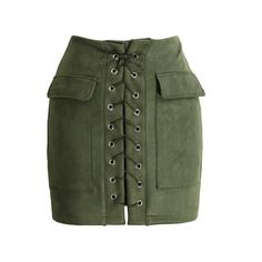 a64498948e 2018 Fashion Mini Lace Up Skirts Women Suede Leather Skirt High Waist  Vintage Pocket Preppy Bodycon Short Pencil Skirt female