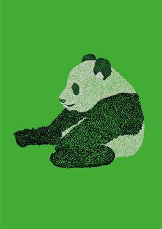 Panda illustration.