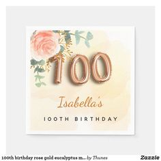 Monogrammed Napkins, Birthday Roses, Birthday Party Celebration, Ecru Color, Paper Napkins, The 100, How To Memorize Things, Presentation, Place Card Holders