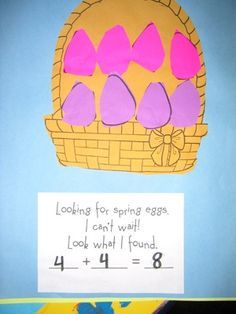 Easter math journal - Have students go on an Easter egg hunt and record their findings in their math journals.