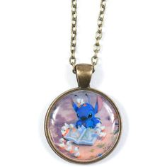 Lilo and Stitch - Stitch Pendant ($8.95) ❤ liked on Polyvore featuring jewelry, necklaces, accessories, lullabies, womens jewellery, cross necklace, pandora jewelry, chain necklace and bronze jewelry