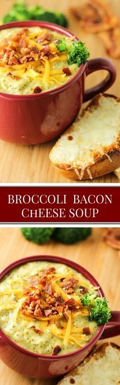 Broccoli Bacon Cheese Soup, this is so easy 30 mins!