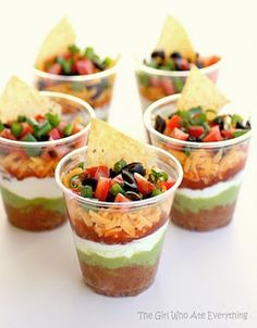 16 Menu Ideas for Your House Party. These mini nacho cups are delicious!