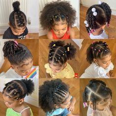 Black Baby Girl Hairstyles, Little Girls Natural Hairstyles, Cute Toddler Hairstyles, Kids Curly Hairstyles, Childrens Hairstyles, Mixed Baby Hairstyles, Fall Hairstyles, Cabello Afro Natural, Curly Hair Styles