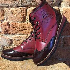 Tamaris Botki Darkred Retrodesign Platform Trzewiki Wood Newcolletion2016 Shoesforyou Wintertime Christmassales Al Boots Combat Boots Shoes