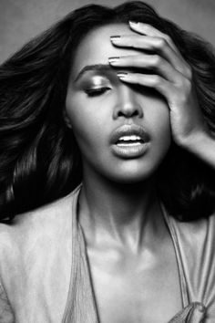 """Ubah Hassan, Somali-Canadian fashion model. She has worked with a number of top designers, including Oscar de la Renta, Rachel Roy, Betsey Johnson & Gucci, modeled in SoftSheen Carson ads, & was the face of Ralph Lauren's S/S 2009 campaign (becoming known as the """"Ralph Lauren Girl""""). She was also featured in the iconic All-Black issue of Vogue Italia. Philanthropically, she has worked closely with the TOMS global charity."""