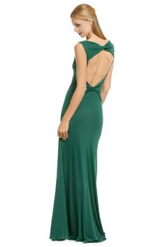 ISSA open back Great Britain Green Gown bridesmaid
