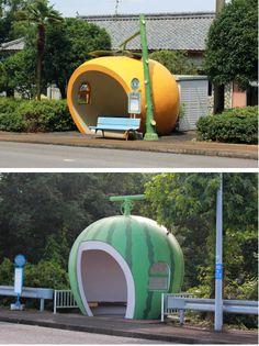 fruits bus stop - Nagasaki