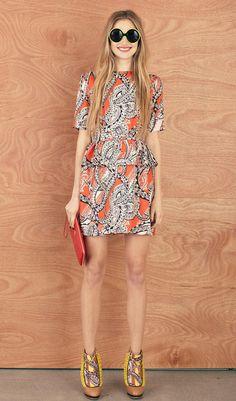 Sea Chain Dress Deep Sea Paisley Silk Twill  $610 nz. Find it at karenwalker.com