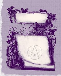 Looking for some beautiful printable pages for your Book of Shadows? Here are some designs I've come up with for you~ free for personal use!