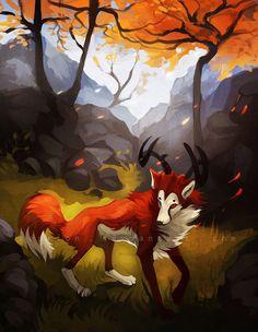 A dear in the forest by Keprion.deviantart.com on @deviantART