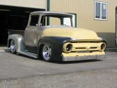 1956 Ford in progress 1956 Ford Pickup, 1956 Ford Truck, Old Ford Trucks, Pickup Trucks, Hot Rod Trucks, Cool Trucks, Classic Ford Trucks, Classic Cars, 1956 Ford F100