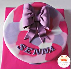 Pink Camouflage Cake by Wish I Had A Cake