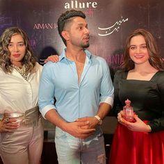 Hania Aamir And Aiman Khan At Launch of Her Perfume Brand Aiman Khan, Product Launch, Ruffle Blouse, Perfume, Tops, Women, Fashion, Moda, Fashion Styles