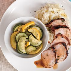 Grilled Pork Tenderloin with Squash Medley | This entire meal pulls together in under one hour. Your family—and your taste buds—will thank you.