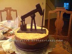 Cool Oil Pump Horsehead Cake... Coolest Birthday Cake Ideas