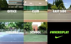 Different cities, different colors, same game. #NikeTennis