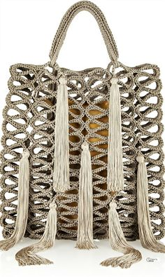Jimmy Choo ● Delilah Macramé Tote....Macrame never looked so divine!