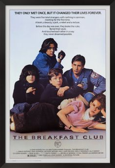 The Breakfast Club - John Hughes wrote and directed this quintessential 1980s high school drama featuring the hottest young stars of the decade. Trapped in a day-long Saturday detention in a prison-like school library are Claire, the princess (Molly Ringwald); Andrew, the jock (Emilio Estevez); John, the criminal (Judd Nelson); Brian, the brain (Anthony Michael Hall); and Allison, the basket case (Ally Sheedy).