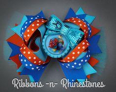 Nemo y amigos Boutique estilo arco del pelo por RnRshairbowsandmore