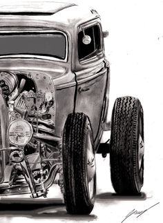 Wow.  Awesome sketch 32 ford coupe