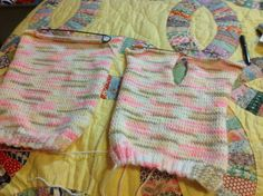My first baby sweater attempt. Getting ready to start the sleeves.