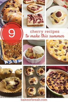 Get baking this cherry season with these wonderful cherry dessert recipes! From cake to pie to cheesecake and more, you're sure to find your new favorite cherry dessert! Cherry Desserts, Cherry Recipes, Köstliche Desserts, Summer Desserts, Fruit Recipes, Easy No Bake Desserts, Best Dessert Recipes, Brownie Recipes, Chocolate Recipes