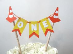Construction Party Cake Topper Construction Birthday Decorations Boy First Birthday Construction Party Construction Cake Smash Boy First