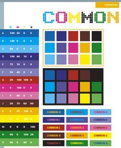 Common color schemes, color combinations, color palettes for print ...