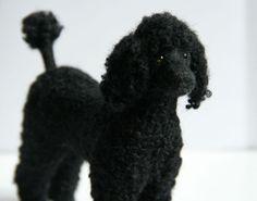 OOAK needle felted STANDARD POODLE dog handmade by Sophie Z.