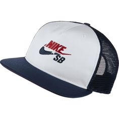 on sale fc4db 921e0 Nike SB Trucker Hat White Midnigth Navy University Red