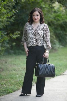 Wardrobe Oxygen: What I Wore featuring @dobbinclothing blouse, LOFT pants, @handbagheaven satchel bag