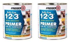 Zinsser Bulls Eye 123 bonding Primer - perfect for painting high gloss, nonporous surfaces such as laminate. It also works on metal and even glass. Basically, this product sticks to everything. It doesn't even require sanding, but I usually give the piece of furniture a quick, light sanding with 220 grit sandpaper anyway. Also works great to prime hardware, such as metal pulls.