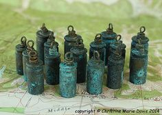 Your place to buy and sell all things handmade Cornflower Wedding, Stash Containers, Bullet Shell, Patina Finish, Bullet Jewelry, Solid Brass, Blue Green, Beading, Shells